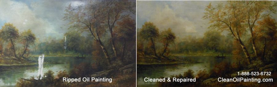 How To Repair A Rip Canvas Painting